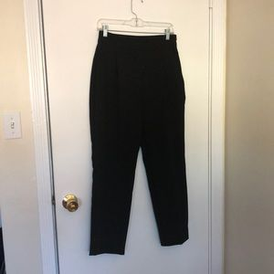 Zara Basic pleated black pant size M